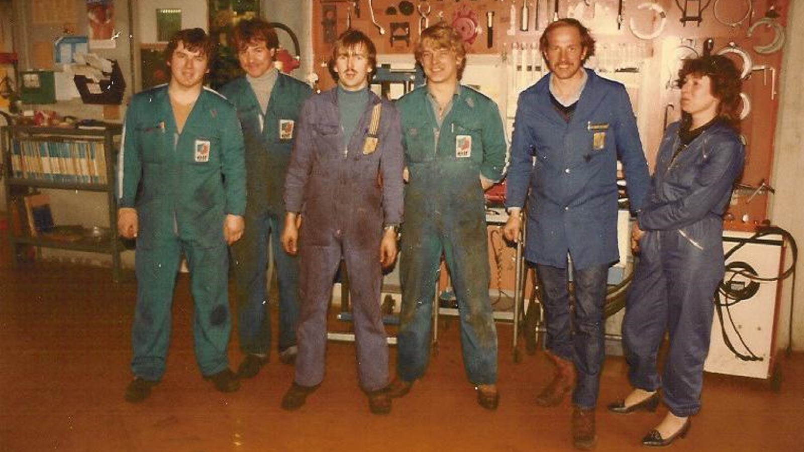 Teamfoto Turben-Garage AG 1980
